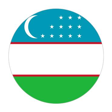 Uzbekistan Visa Flag